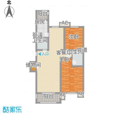 东方太阳城三期琴湖湾112.00㎡户型2室