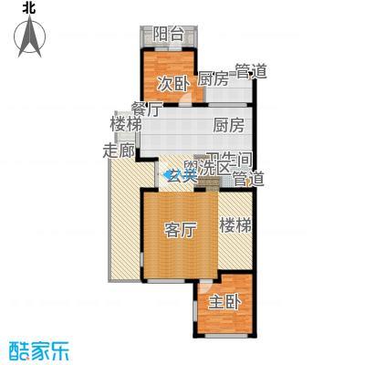 龙湖・香醍溪岸31.00㎡BN-T首层户型2室2厅1卫2厨