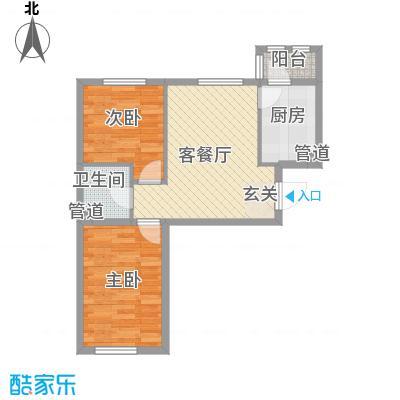 上庄三嘉信苑经济适用房7.00㎡J-60户型2室1厅1卫1厨
