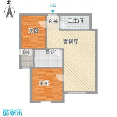 上庄三嘉信苑经济适用房6.00㎡户型2室1厅1卫1厨