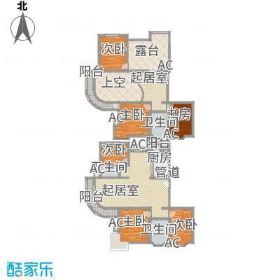 城南嘉园146.34㎡户型5室2厅3卫1厨