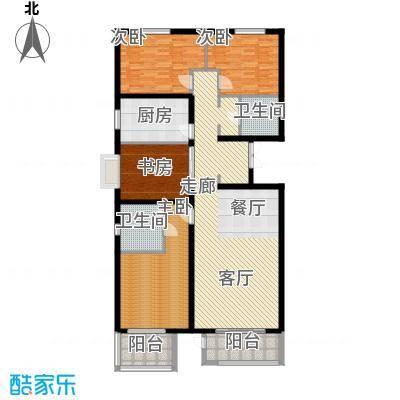 金帅府家园158.00㎡2号楼4号楼01户型3室2厅2卫1厨
