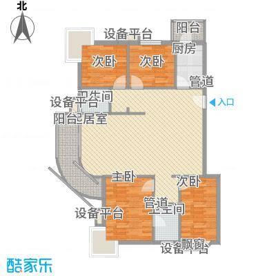 瑞丽江畔137.18㎡D4户型3室2厅2卫1厨