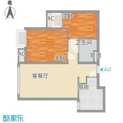 红山世家户型2室
