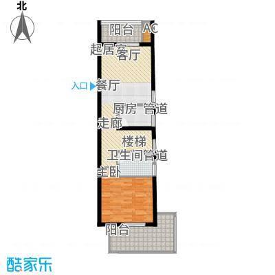首邑溪谷65.00㎡15号楼E3(售完)户型1室1厅1卫1厨