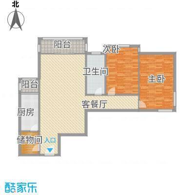 望京花园东区13.00㎡户型2室