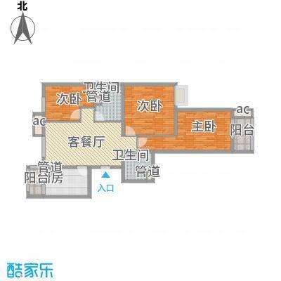 京城仁合125.60㎡D-1户型3室2厅2卫1厨