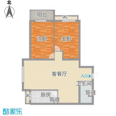 京城仁合12.51㎡E-3户型2室2厅2卫1厨