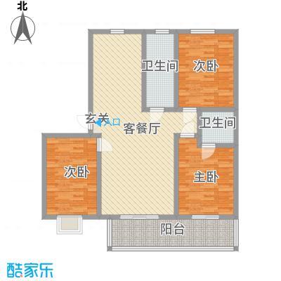 康居南区户型3室2厅2卫1厨