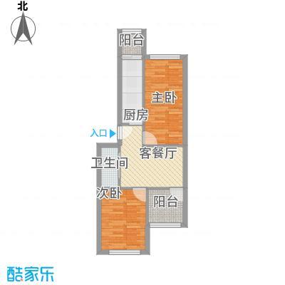 望园东里67.00㎡户型1室