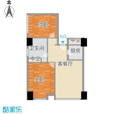 方恒国际中心B1/B1反户型2室2厅1卫1厨