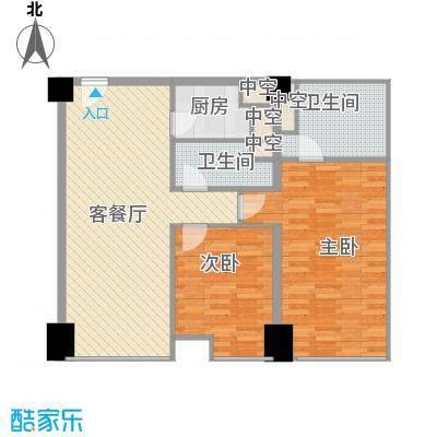 方恒国际中心B2/B2反户型2室2厅2卫1厨