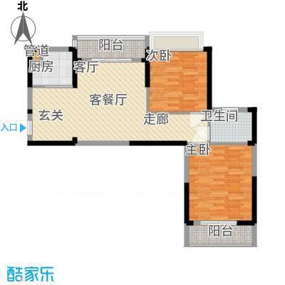 东湖御院户型图3号楼F户型2室面积89.79㎡