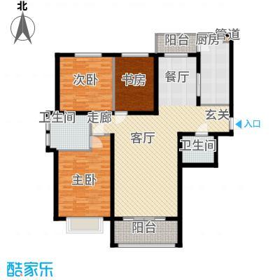 瀚城国际二期14.00㎡D-3户型3室2厅2卫1厨