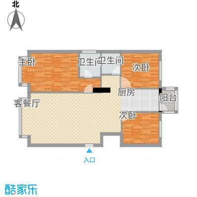 万象城12.00㎡壹号楼户型3室2厅2卫1厨