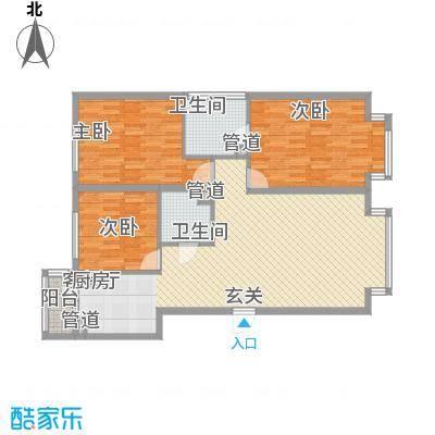 万象城137.00㎡伍号楼户型3室2厅2卫1厨