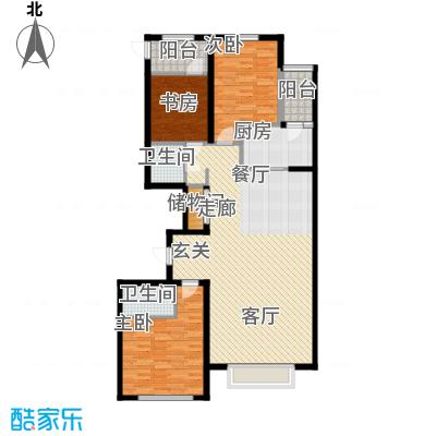 瀚城国际二期151.00㎡B-3户型3室2厅2卫1厨
