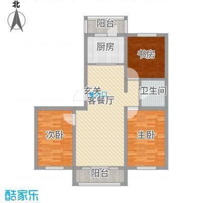 宜和园M户型3室2厅1卫1厨