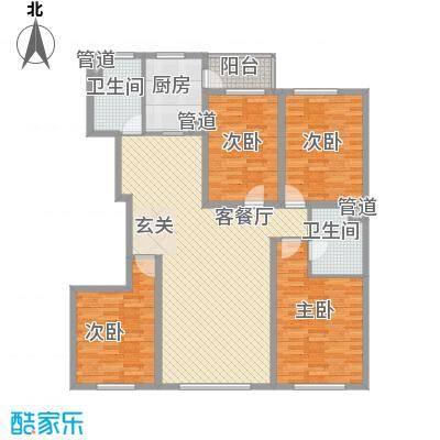 丽水华城163.50㎡D户型4室2厅2卫1厨