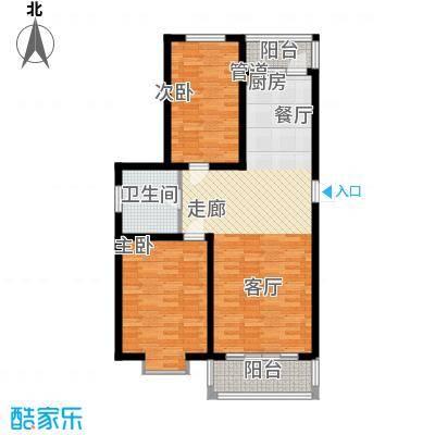 滨洲华府111.00㎡A户型2室2厅1卫1厨