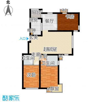 中国铁建绿港E户型3室2厅2卫1厨