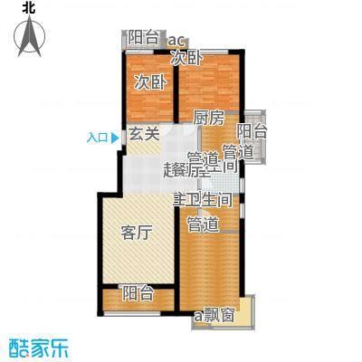 中国铁建绿港132.17㎡F户型3室2厅2卫1厨