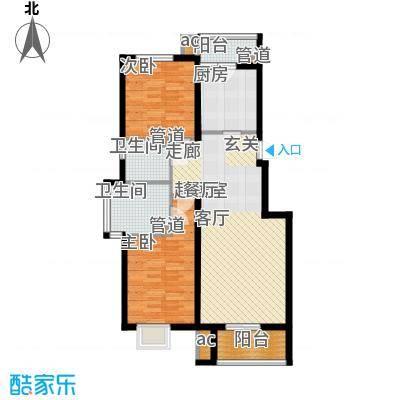 中国铁建绿港13.20㎡C1`户型2室2厅2卫1厨