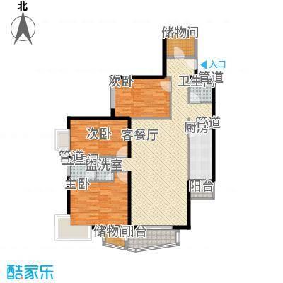 金世纪嘉园155.47㎡西区5号楼D户型3室2厅2卫1厨