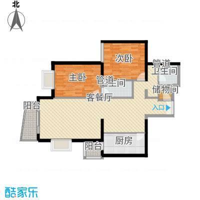 金世纪嘉园116.80㎡C户型2室2厅2卫1厨