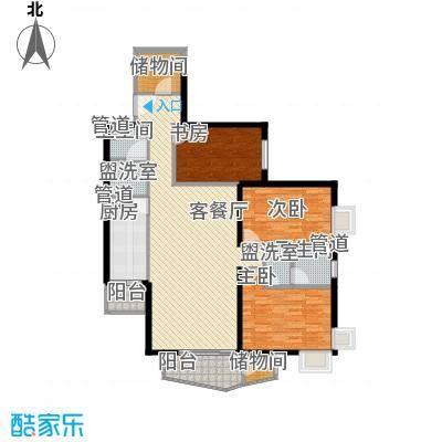 金世纪嘉园155.47㎡D户型3室2厅2卫1厨