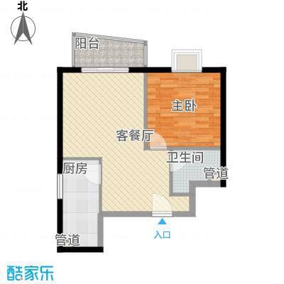 金世纪嘉园71.53㎡3区1号楼A1户型1室1厅1卫1厨