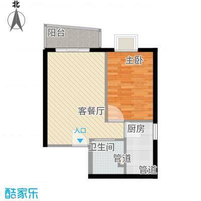 金世纪嘉园65.60㎡东区1号楼A1户型1室2厅1卫1厨