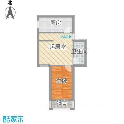 南新园48.00㎡户型1室