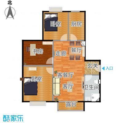 北京明发广场102.04㎡B2户型1室1厅1卫1厨-副本