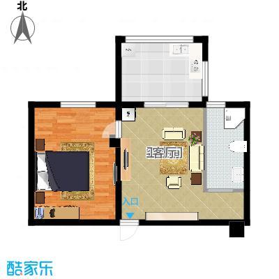 中辰国际公寓50.00㎡户型-副本