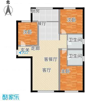 三园新城佳苑117.22㎡P户型3室2厅2卫1厨