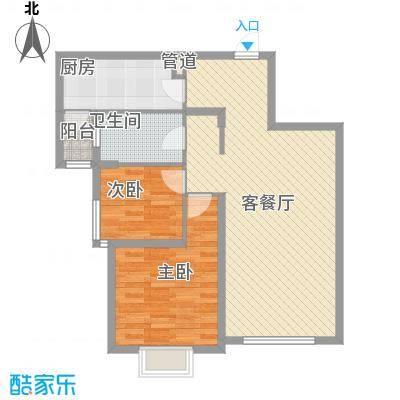 三榆龙湖花园6.20㎡C户型2室2厅1卫1厨