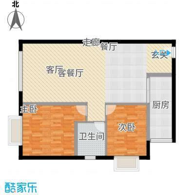 三园新城佳苑8.70㎡K户型2室2厅1卫