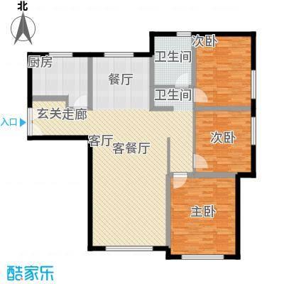 三园新城佳苑115.80㎡C户型3室2厅1卫1厨