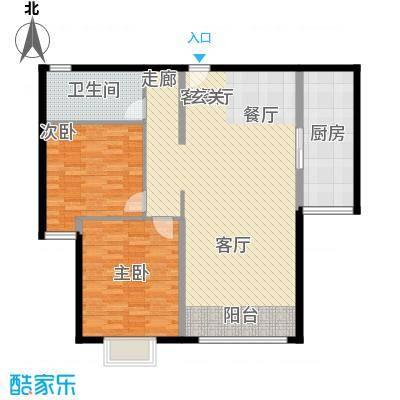 三园新城佳苑14.72㎡A户型2室2厅1卫1厨