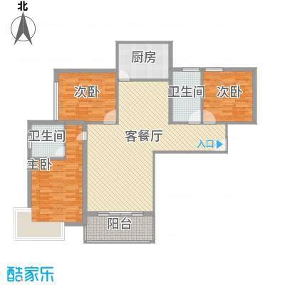 宝丰绿洲128.20㎡户型3室2厅2卫1厨