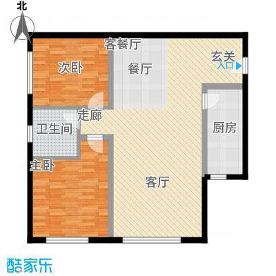 三园新城佳苑8.16㎡S户型2室2厅1卫1厨