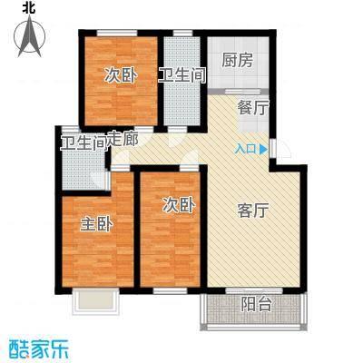 平安先河东苑12.00㎡A户型3室2厅2卫1厨