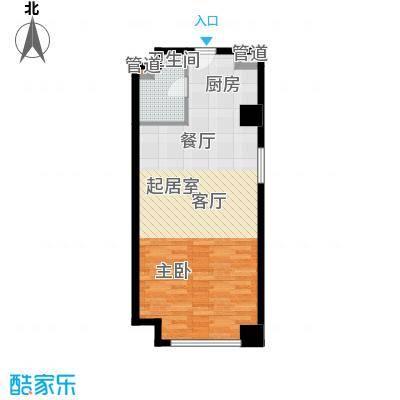 西宁万达广场6.00㎡SOHOA户型1室1厅1卫1厨