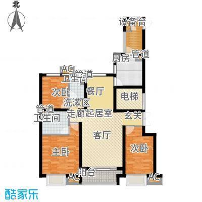 西宁万达广场14.00㎡D2户型3室2厅