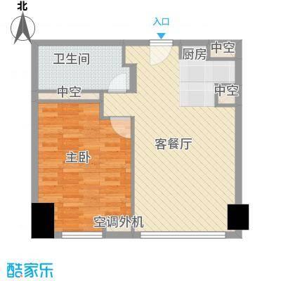方恒国际中心户型1室