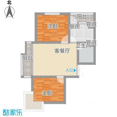 时代广场75.23㎡1#A1户型2室2厅1卫1厨