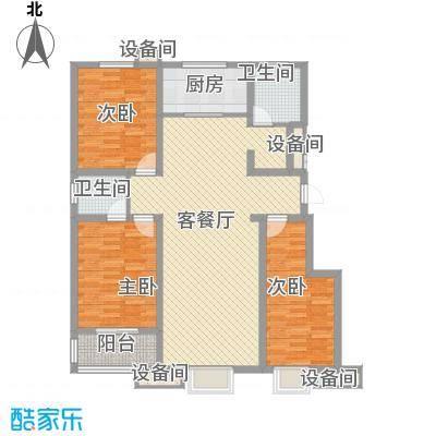 成博牧马128.61㎡5栋户型3室2厅2卫1厨