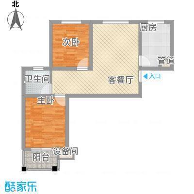 成博牧马84.30㎡16栋户型2室2厅1卫1厨