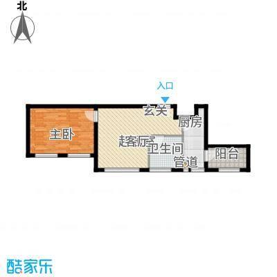 熙悦春天5.67㎡5#-7#楼G1户型1室1厅1卫1厨